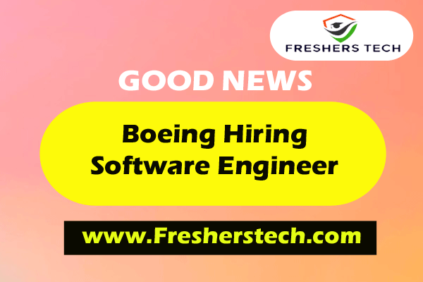Boeing Off Campus Drive 2021 Hiring Lead Software Engineer - Freshers Job